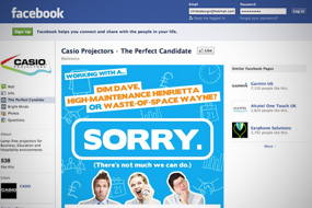 Casio Perfect Candidate Facebook Tab