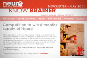 Neuro Drinks Email Newsletter