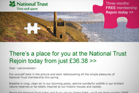 National Trust HTML Emails