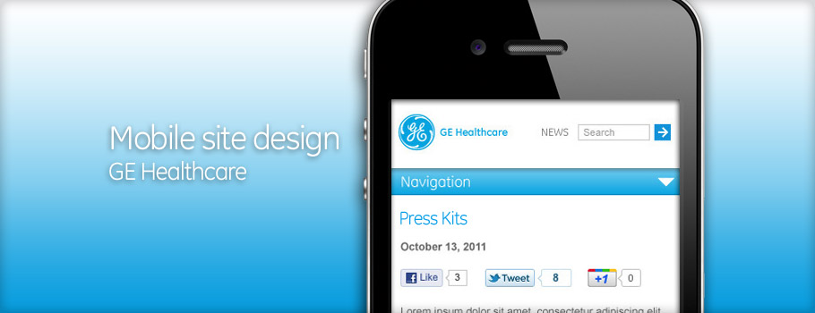 GE Healthcare mobile design