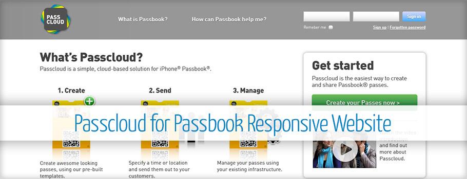 Passcloud Responsive Web Design